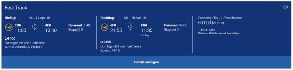 miles and more praemienflug lufthansa economy class frankfurt new york