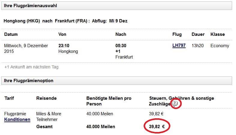 miles and more hongkong frankfurt niedrige steuern