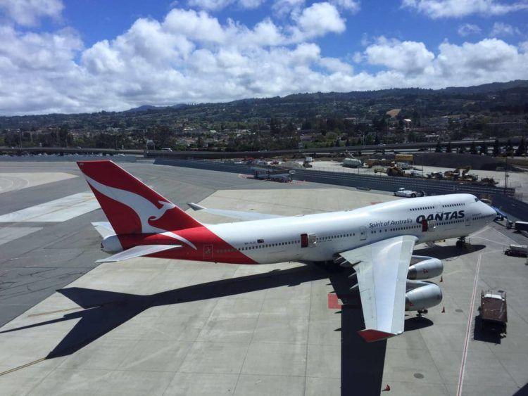 qantas boeing 747 san francisco 2017