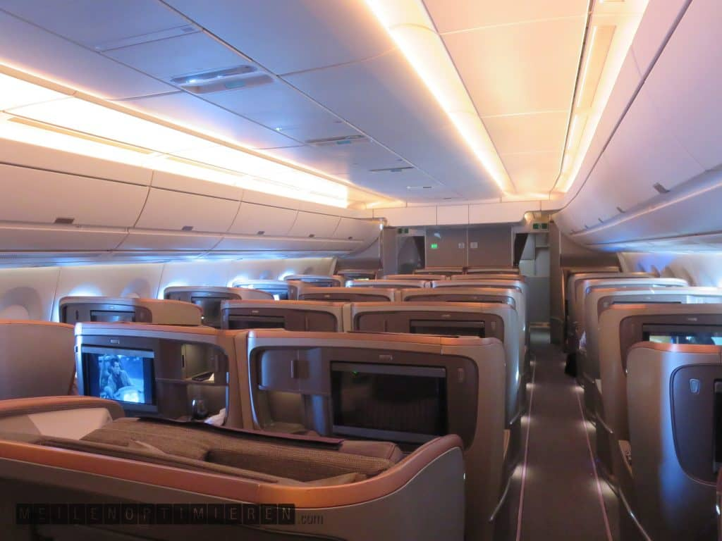 singapore airlines business class airbus a350 900 cabin 1
