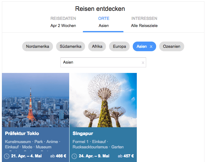 google flights asien
