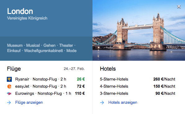 google flights london