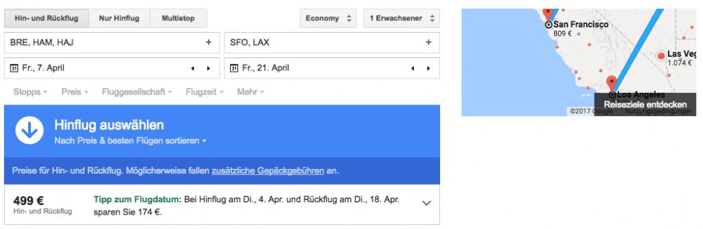 google flights suche