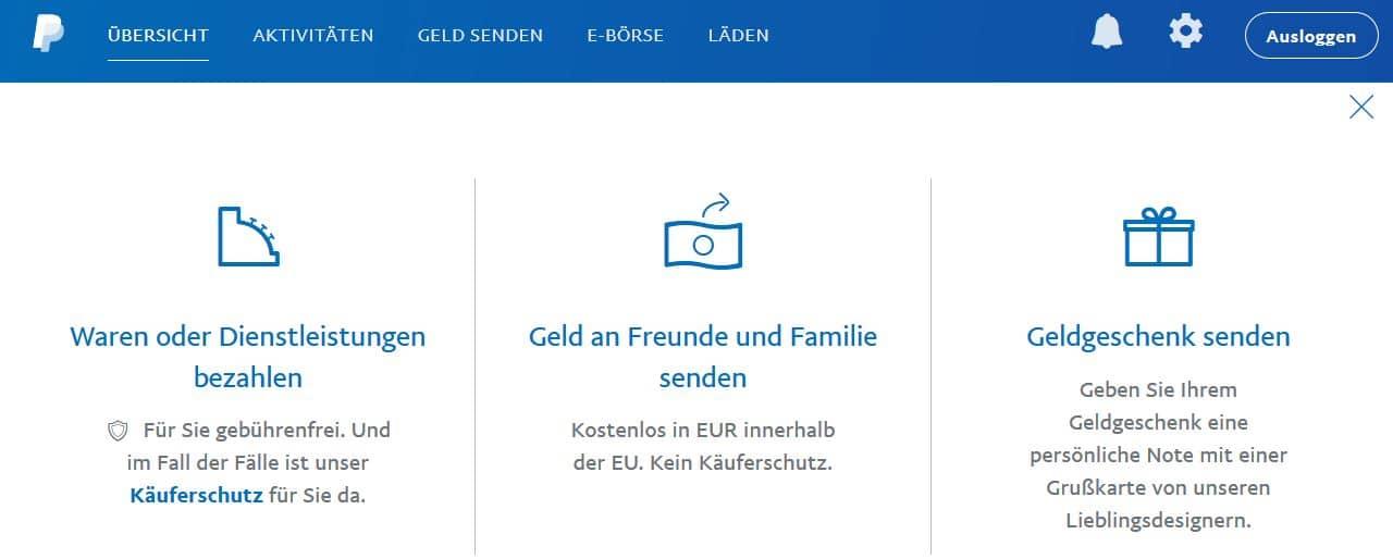Paypal Geld Senden Limit
