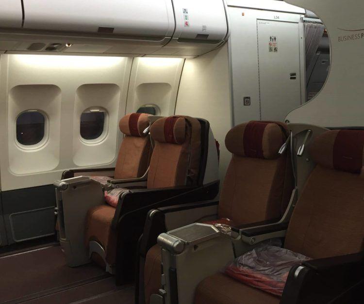 iberia business class airbus a340 kabine