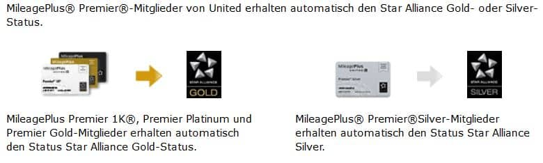 united mileageplus star alliance gold silver