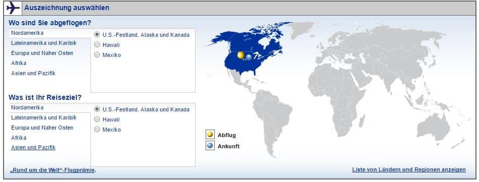 united mileageplus interaktive karte