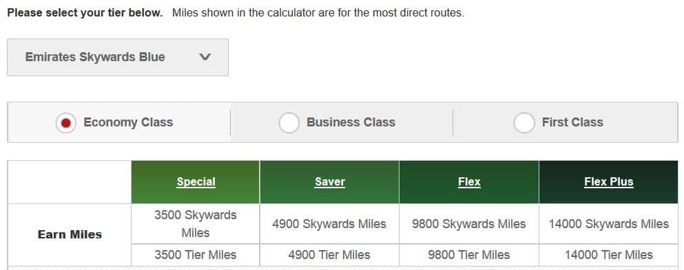 emirates skywards meilen sammeln
