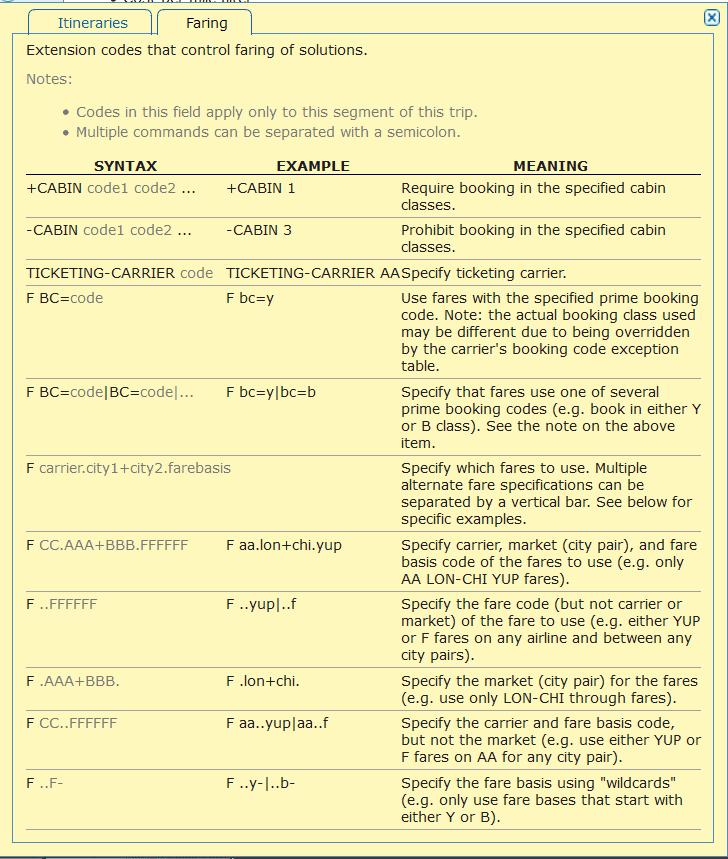 ita matrix advanced routing codes 10