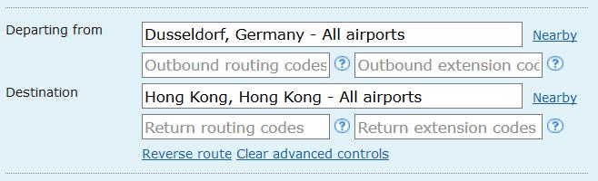 ita matrix advanced routing codes 2