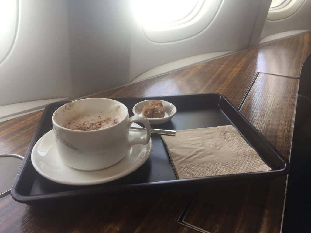 cathay pacific first class boeing 777 330er cappucino
