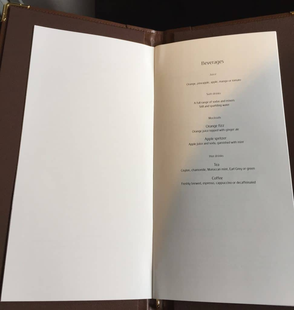 emirates first class a380 menu 3
