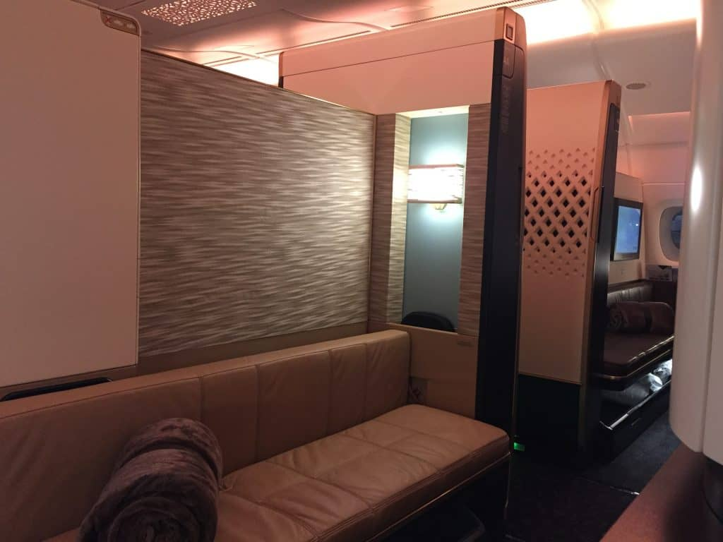 Etihad First Class Apartment Couch