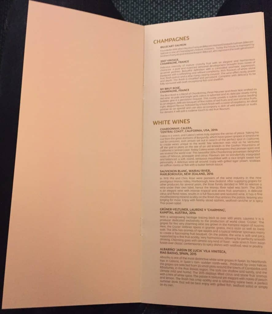 etihad first class apartment essen menu 3