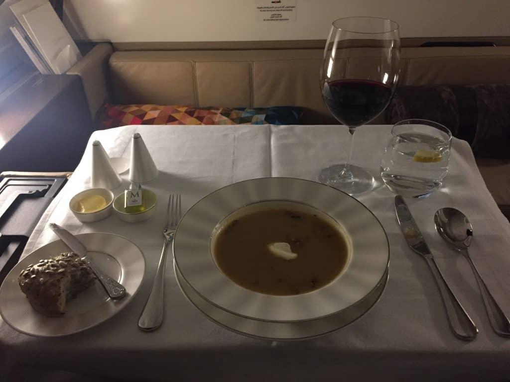 etihad first class apartment essen suppe