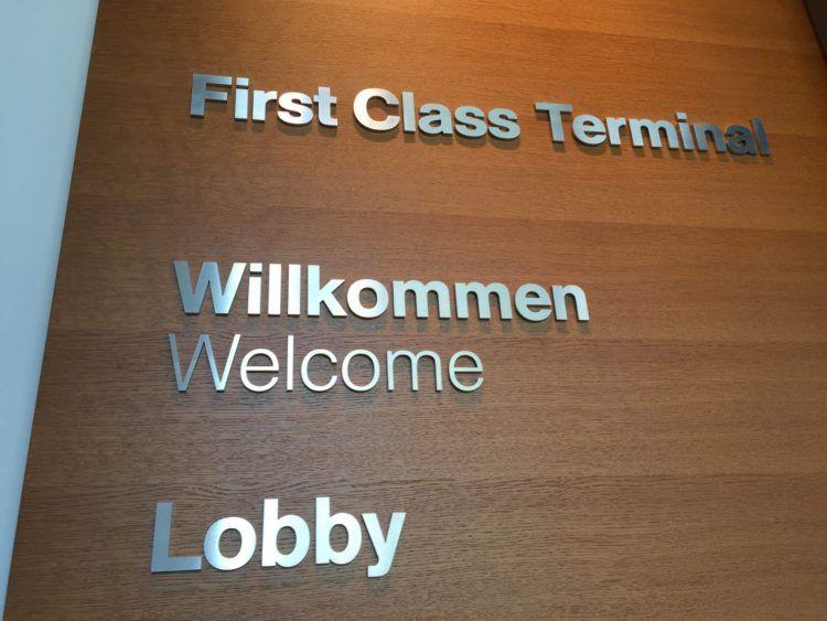 lufthansa first class terminal frankfurt willkommen