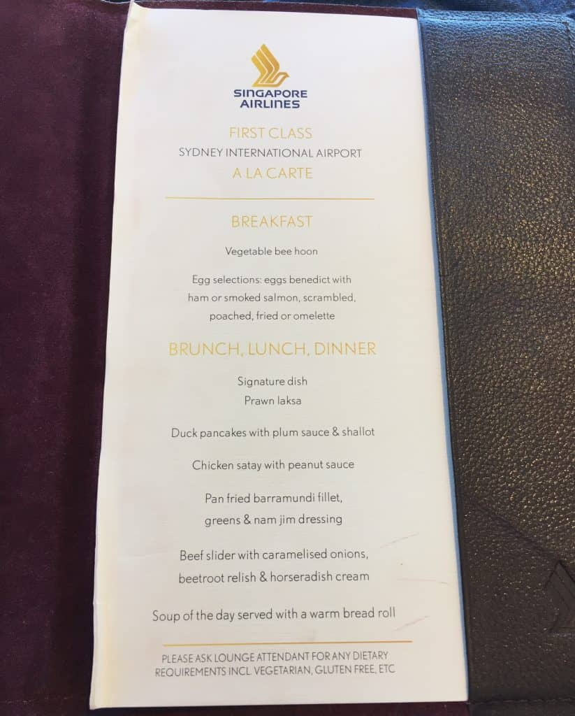 singapore airlines silverkris first class lounge sydney 9