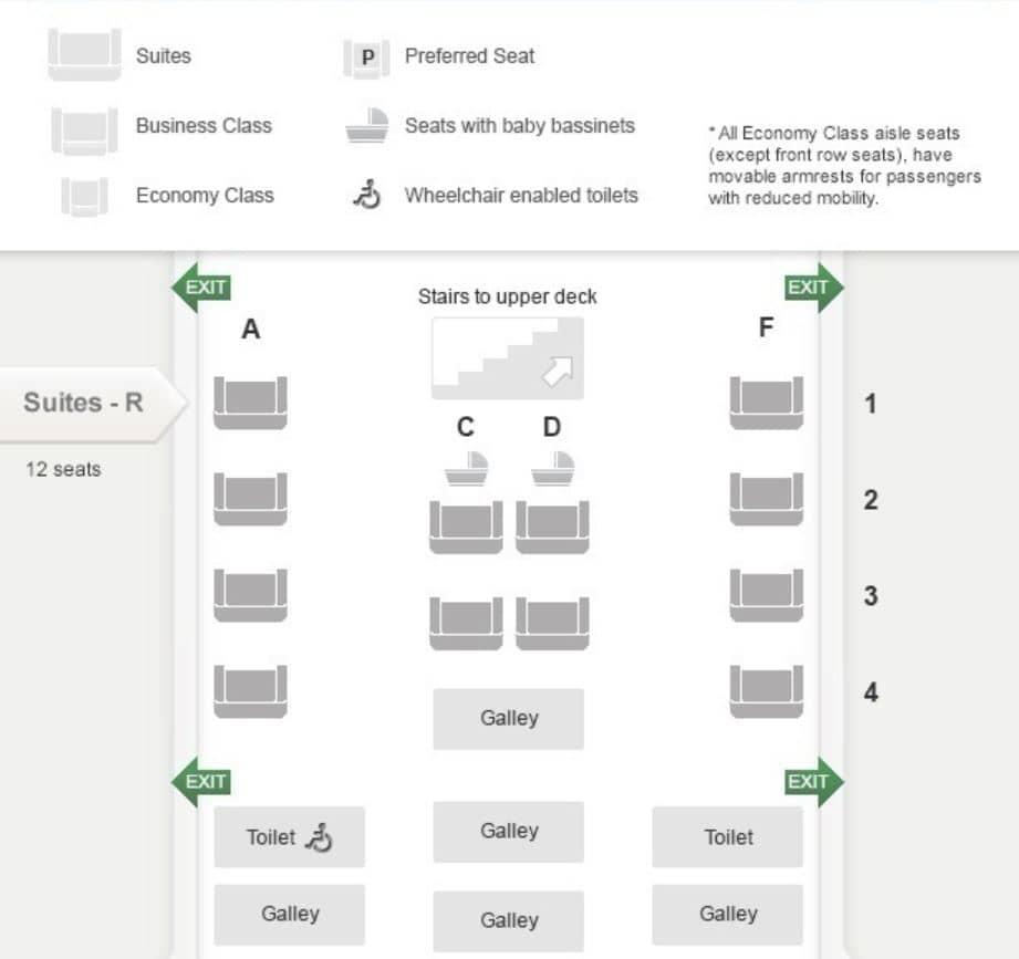 singapore airlines suites class sitzplan