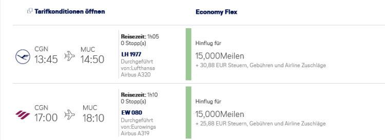 Miles And More Praemienflug Eurowings Cgn Muc 2