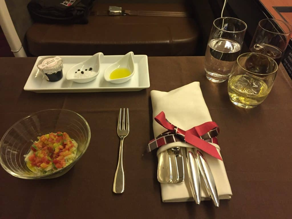 Japan Airlines First Class Vorspeise