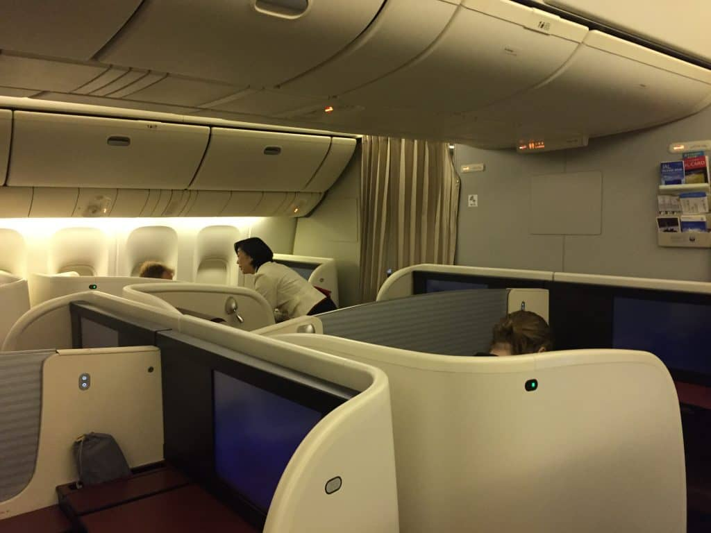 Japan Airlines First Class Kabine