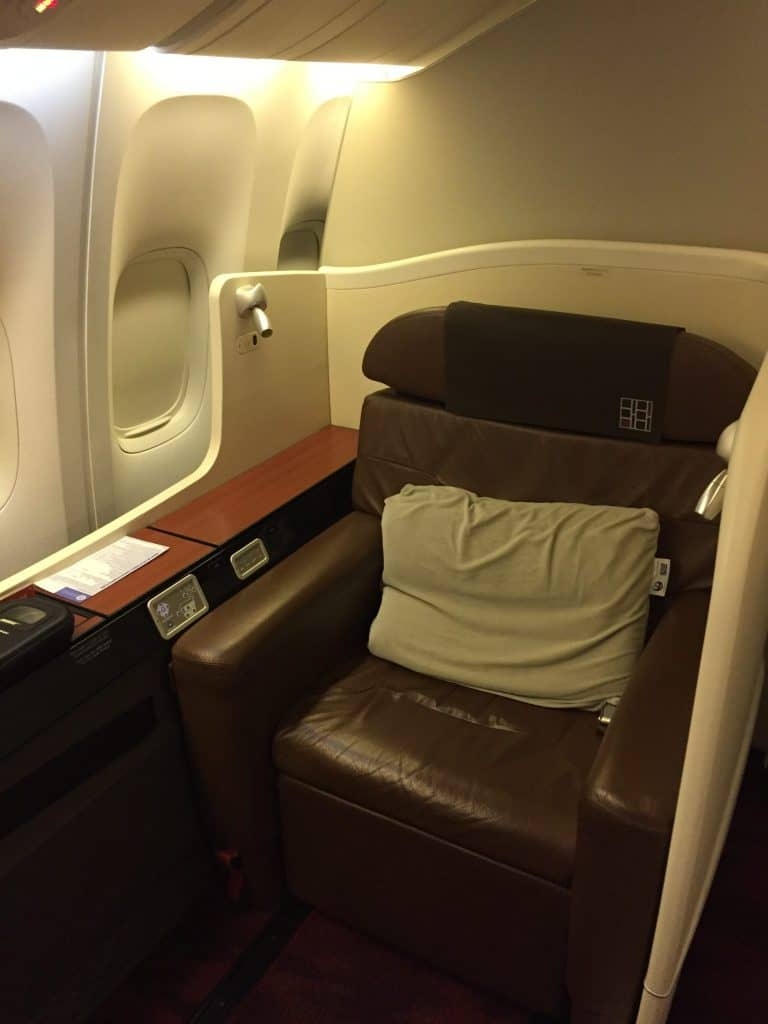 Japan Airlines First Class Sitz
