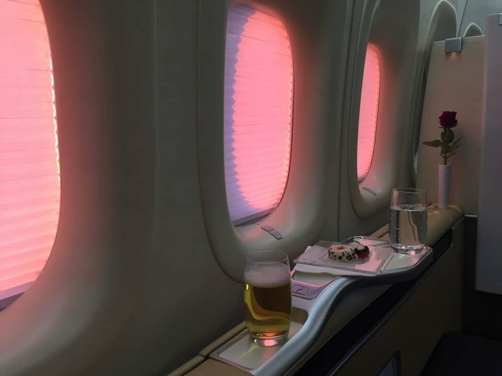 Lufthansa First Class Bier