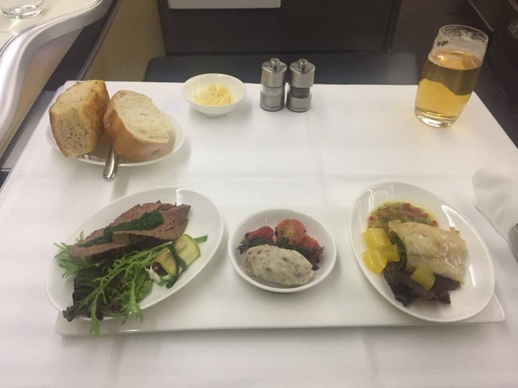 Lufthansa First Class Vorspeise