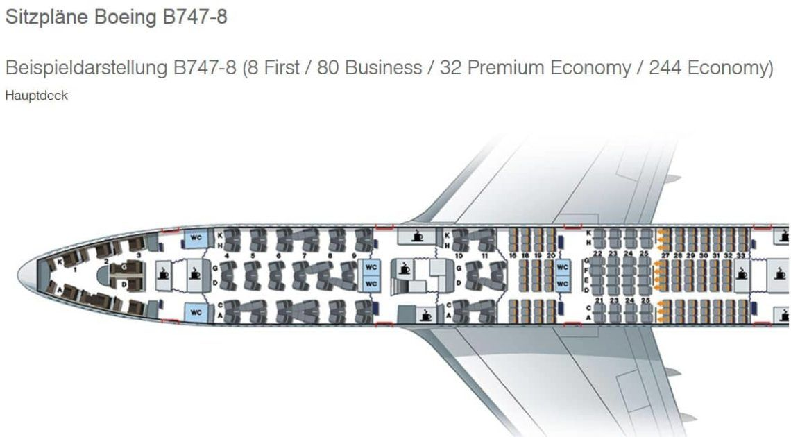sitzplan lufthansa boeing 747 8 first class