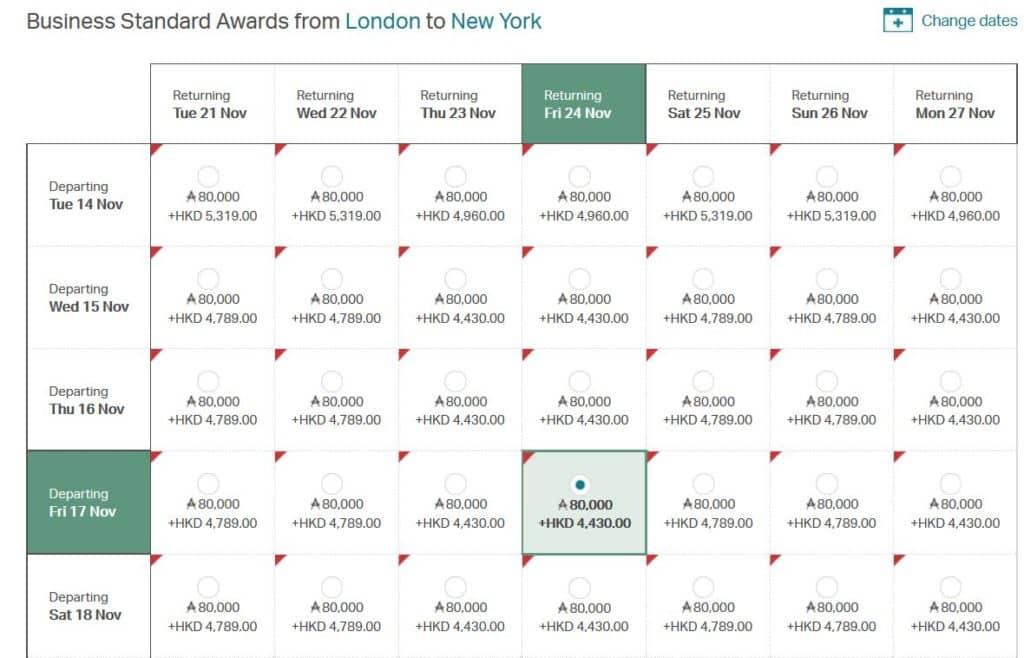 asia miles pramienflug business class london new york