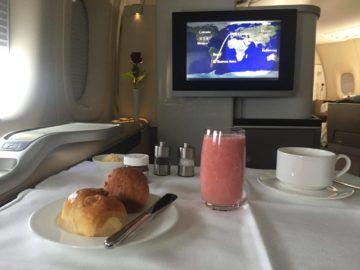 lufthansa first class boeing 747 8 fruhstuck 1