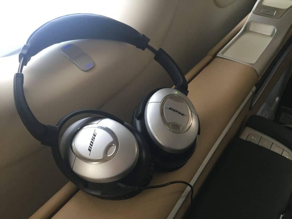 Lufthansa First Class Kopfhörer