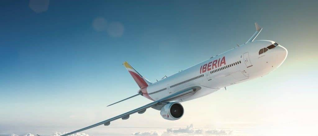 iberia a330 aircraft flying1024x765
