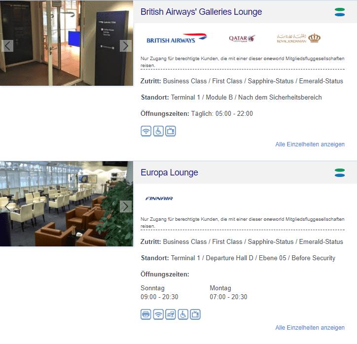 oneworld lounges munchen