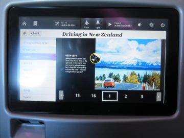air new zealand business class boeing 777 200 entertainment driving nz