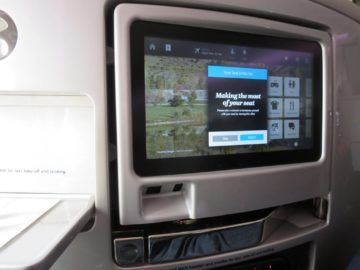 air new zealand business class boeing 777 200 entertainment monitor 1