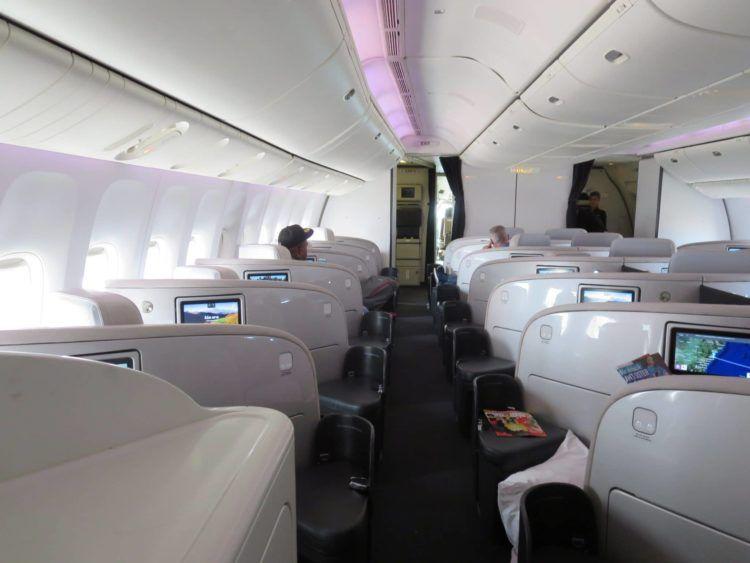 air new zealand business class boeing 777 200 kabine 1
