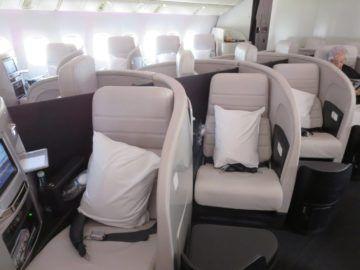 air new zealand business class boeing 777 200 kabine 2