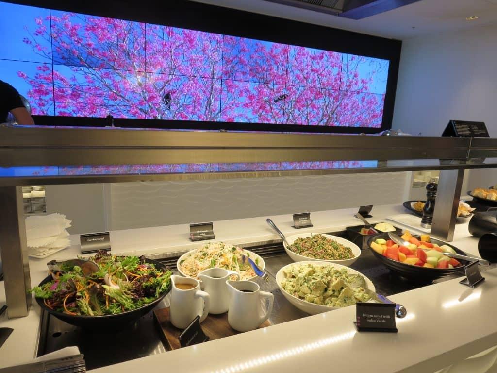 air new zealand sydney international lounge buffet 1