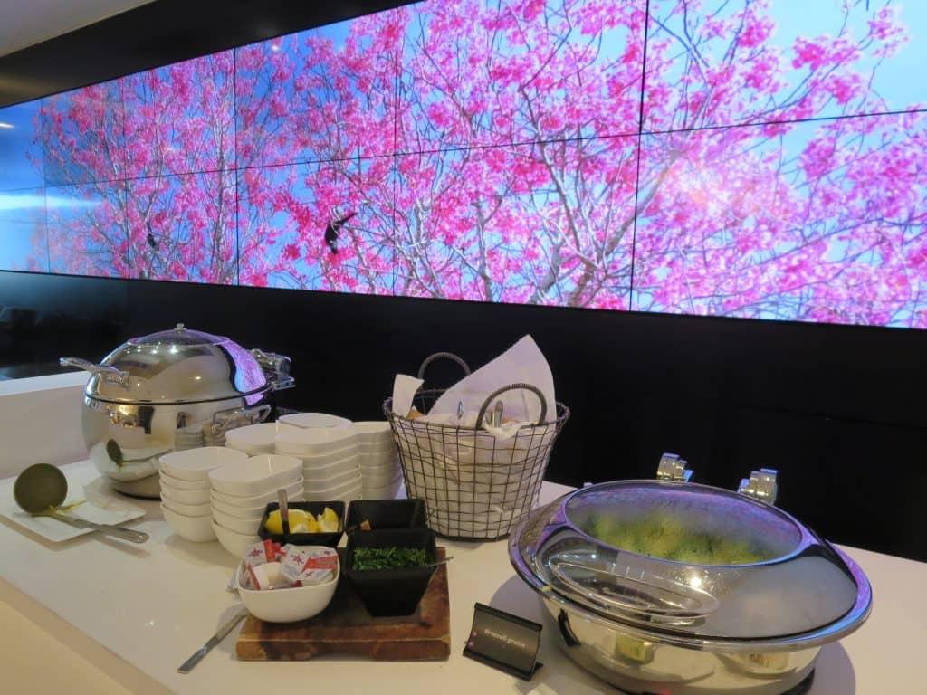 air new zealand sydney international lounge buffet 2