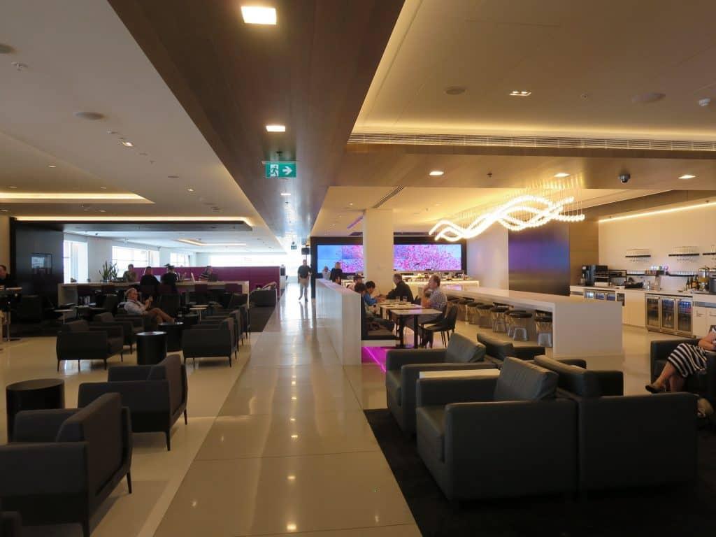 air new zealand sydney international lounge flur 1