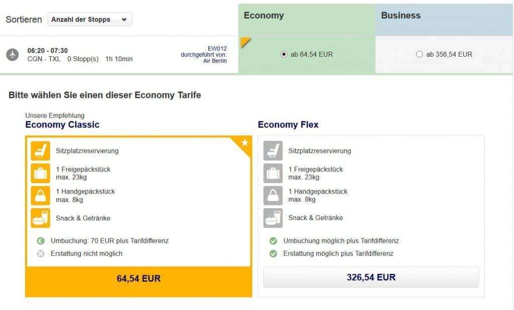 eurowings fluege ueber miles and more webseite buchen 2
