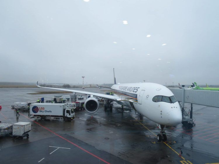 singapore airlines a350 moskau