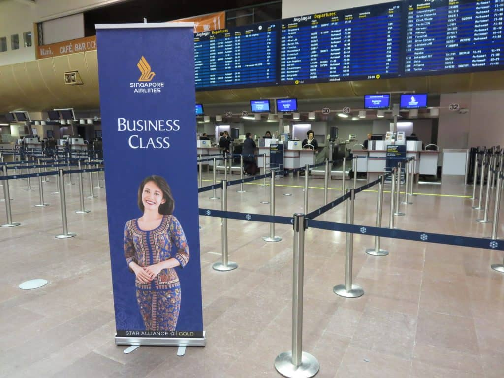 singapore airlines business class a350 checkin