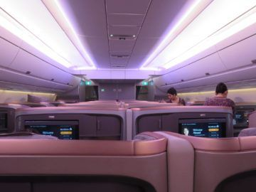 singapore airlines business class a350 kabine 1