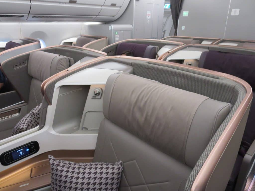 singapore airlines business class a350 kabine 3