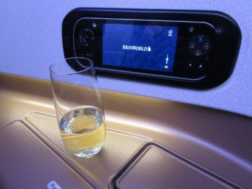 singapore airlines business class a350 konsole 2