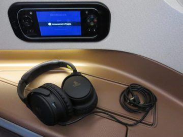 singapore airlines business class a350 konsole und headset