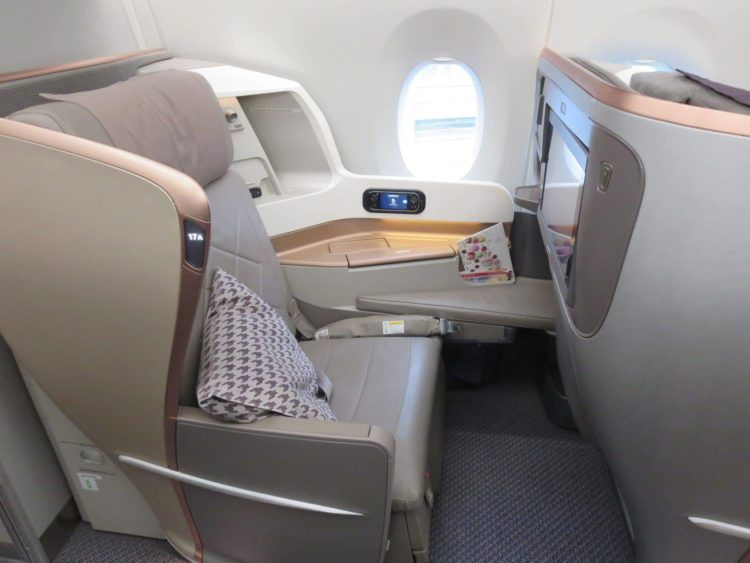 singapore airlines business class a350 sitz 1
