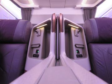 singapore airlines business class a350 sitz trennwand 2